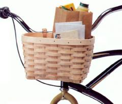 Old-Fashioned Bicycle Basket