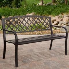 Crossweave Back 4-ft. Garden Bench
