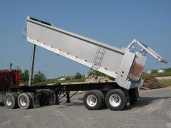 End Dump Trailers - Aluminum Tubs
