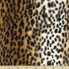 Soft Fur Print Cheetah II Polyester Fabric