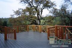 Redwood Deck Railing