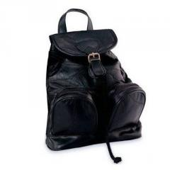 Italian Stone Leather Design Backpack Purse