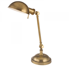 Girard L435-VB Vintage Brass Floor Lamp