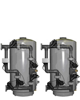 PVC Lined Steel Tank Duplex Parallel C-422E-PVN-D