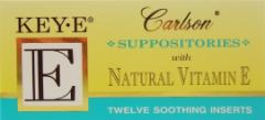 Carlson Key E Suppositories Vitamin E