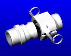 FLUOR-O-FLO™ PTFE NPT Cam-Lock, Quick-Connect