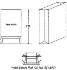 Webb Bottom Flush Cut Top Bag