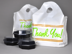 """Printed """"Thank You"""" Take Out Bag with"""