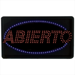 Abierto High Visibility LED Sign