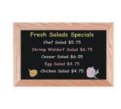 Black Chalkboard Display Style Markerboards and