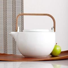 Chava Ceramic Teapot w/ Wooden Handle