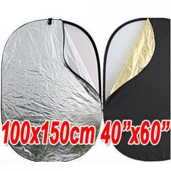 "Giant 40""x60"" 5-in-1 Collapsible Oval Reflector"