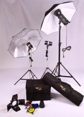 200W Studio Kit With Umbrella