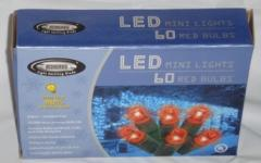 Red LED Mini Lights 60 Bulb