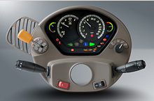 Module with instrument controls for tractors