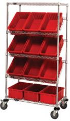 Slanted Shelving Units