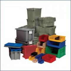 Plastic storage carts
