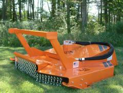 Heavy-Duty Land Clearing Brush Cutter Skid Steer