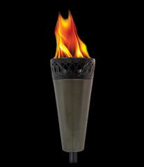 Island King® Large Flame TIKI Torch® - Gun Metal Finish