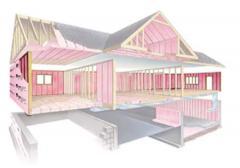 Exterior 2 x 6 Wall Fiber Glass insulation