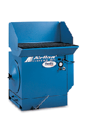 Centrifugal dust collectors downdraft tables