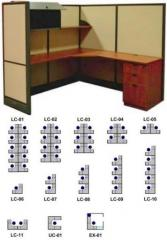 "Skutchi l Cubicles Solid 65"" High Panels"