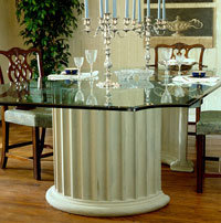 Fluted Crescent Dining Table or Console Table