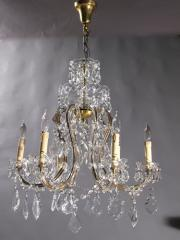 6-Light Crystal Chandeliers