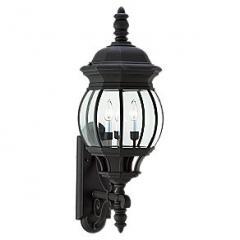 Three Light Black Wall Lantern