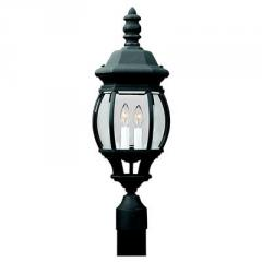Two Light Black Post Fixture