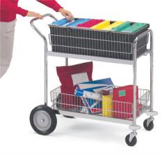 Medium Wire Basket Cart with Front Bumpers