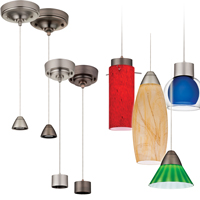 LED Mini-Pendant Fitters with Mix-and-Match Shades
