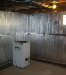 Thermal Dry Basement Radiant Wall Barrier