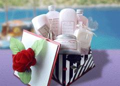 English Rose Spa Treat Gift Basket