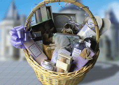 Violet Spa and Candle Day-Off Basket