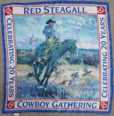 """""""Cowboy Gathering"""" Silk Scarf"""