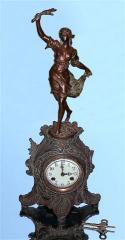 Antique WATERBURY Bronze Figural Art Nouveau Lady
