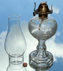1871 Mountain Laurel w Oval Band Base Kerosene Oil