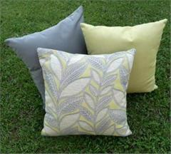 Charcoal lime twist pillow set (Sunbrella)