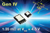 Vishay Siliconix TrenchFET® Gen IV MOSFETs