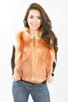 Canadian Cherry Red Fox Vest