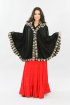 Cashmere 100%  Cape with Chinchilla Trim and