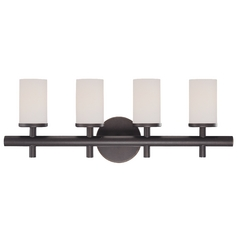 Four-light bathroom fixture