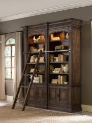 Rhapsody Double Bookcase with Touch Lighting,