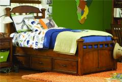 Tahoe Twin Size Panel Bed with Trundle by Opus