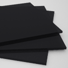 "Cast Acrylic Sheet - Black - 1/4"" Thk -"