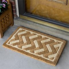 Brick Weave Rectangular Coco Doormat