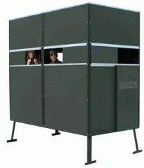 Double Ground Blind w/ Sliding Door