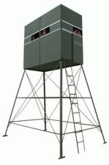 Double Deer Blind w/ 10' Tower &