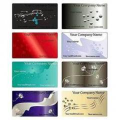 Coloured visiting cards